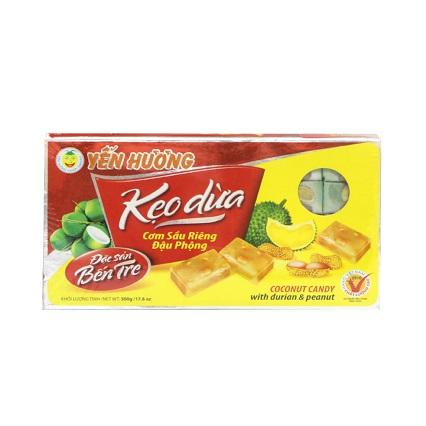Kẹo Dừa cơm Sầu Riêng Đậu Phộng 500g -Yến Hương