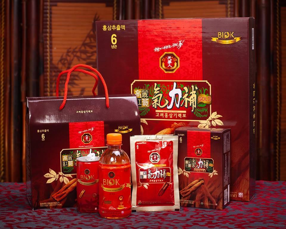 Trọn bộ quà tặng tết KỶ HỢI 2019 – Hồng sâm BIOK – Nước hồng sâm Hàn Quốc 6 năm tuổi