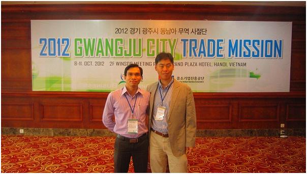 CTY CỔ PHẦN PHÚC THỊNH THAM GIA HỘI NGHỊ 2012 GWANGJU CITY TRADE MISSION TẠI GRAND PLAZA HANOI HOTEL