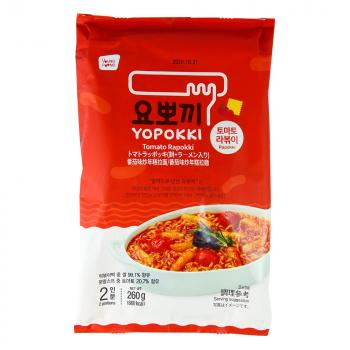 Bánh gạo Rapokki vị cà chua - Tomato Rapokki 260g