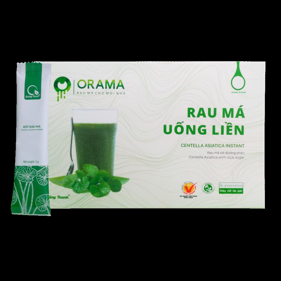 Bột rau má uống liền không đường Quảng Thanh - Hộp 15 gói * 3g